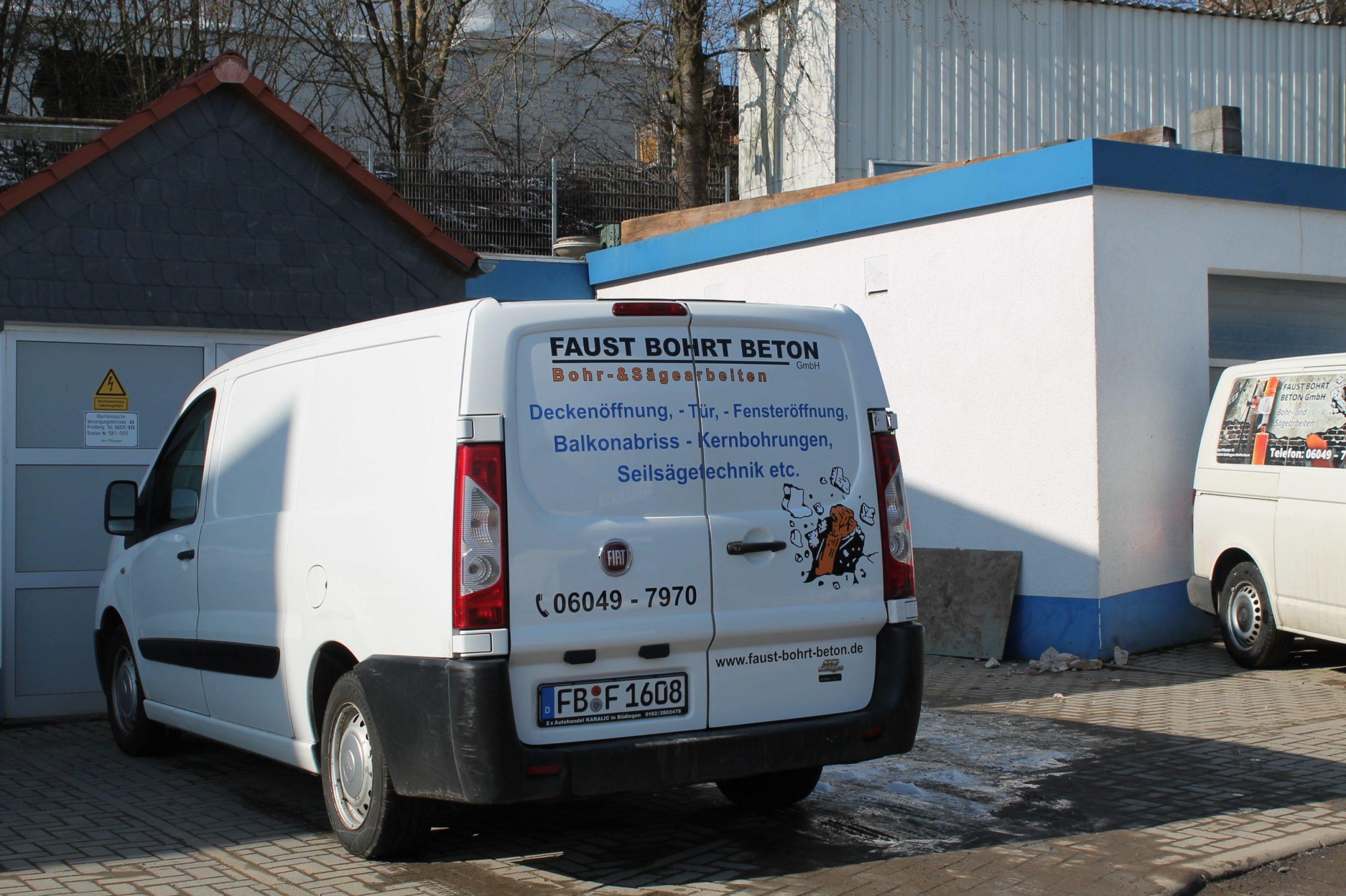 Faust bohrt Beton Fuhrpark 1