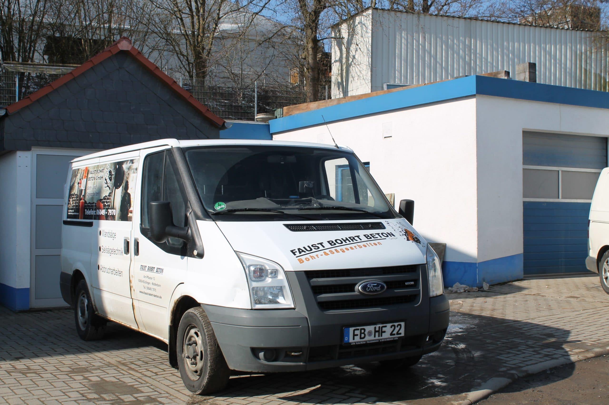 Faust bohrt Beton Fuhrpark 2