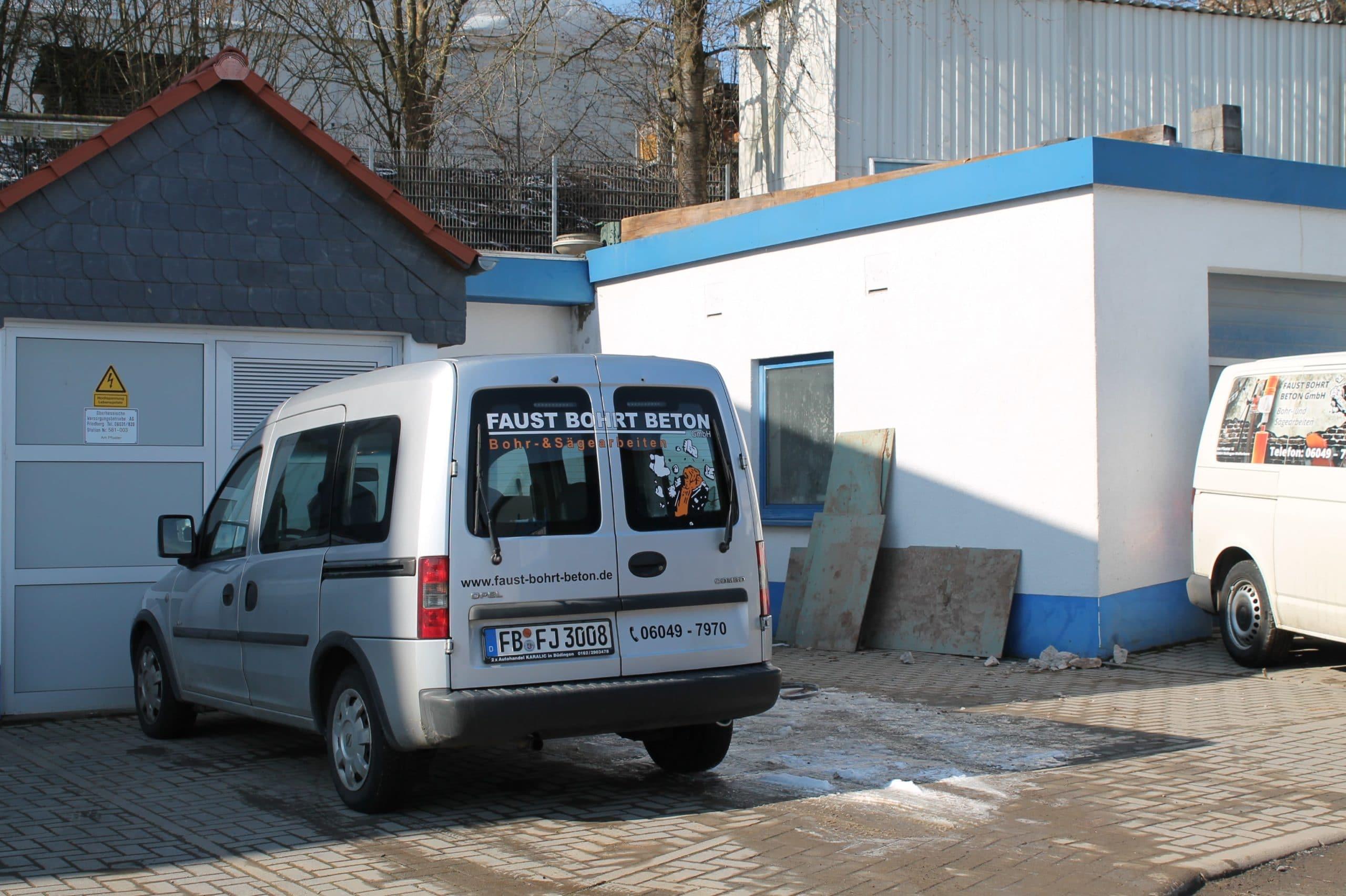 Faust bohrt Beton Fuhrpark 3