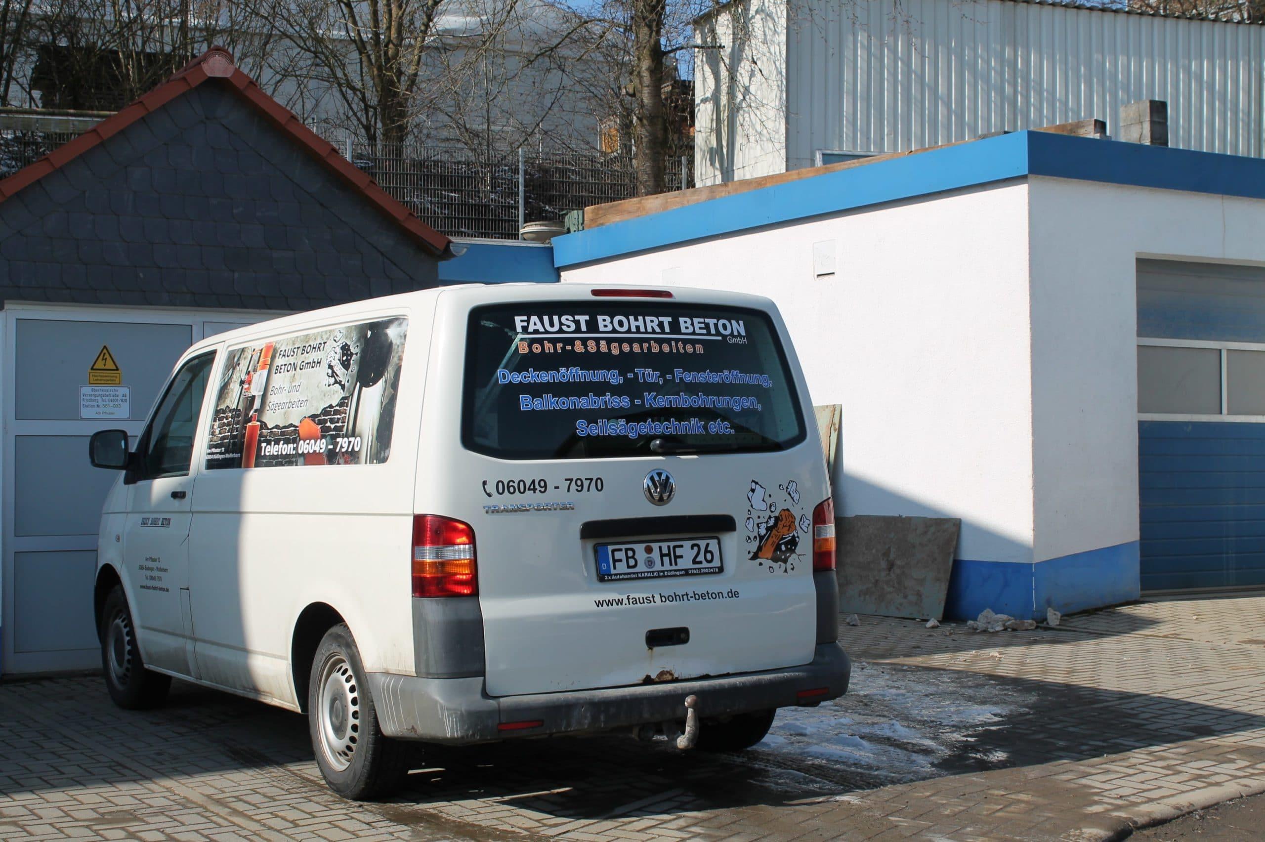 Faust bohrt Beton Fuhrpark 5