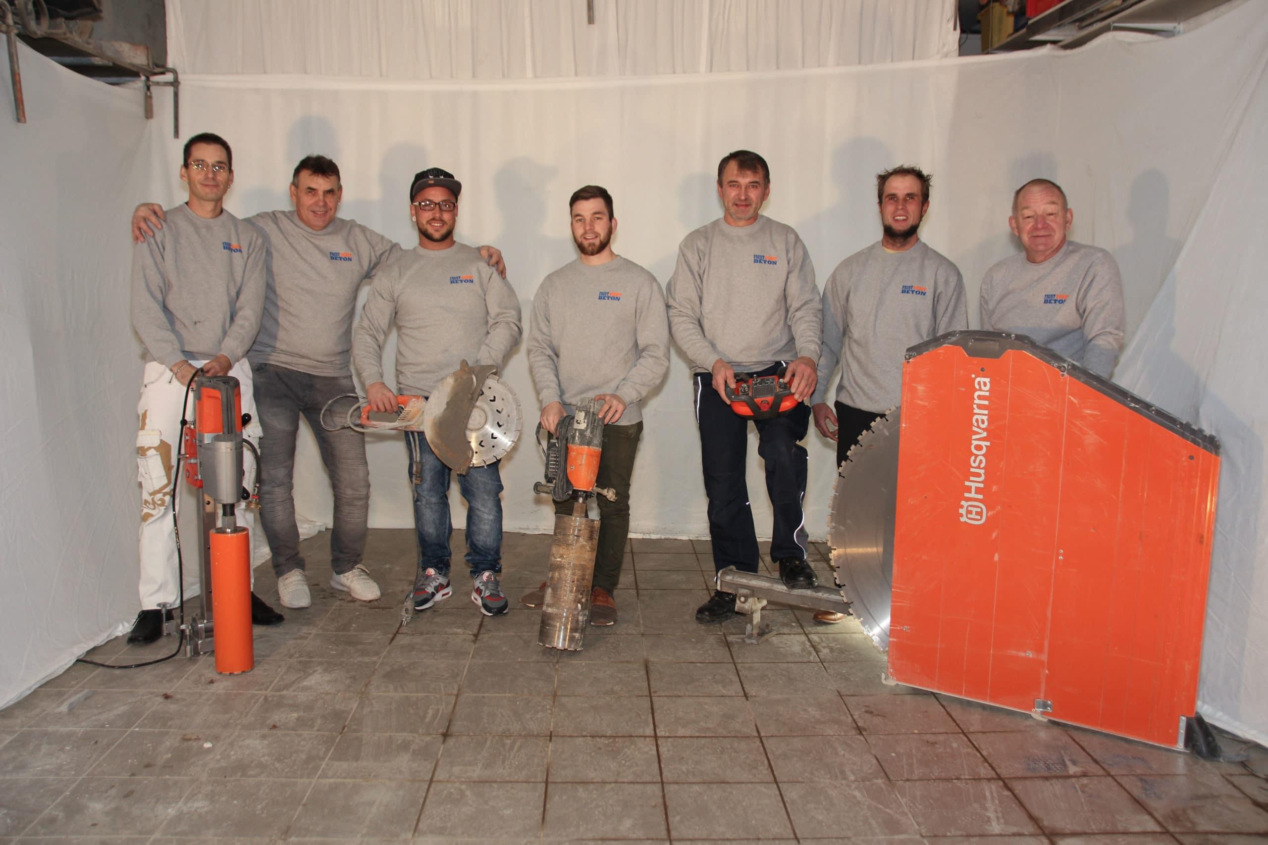 Team Faust bohrt beton